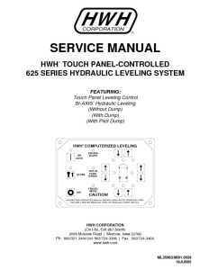 thumbnail of HWH 625 leveling system service manual