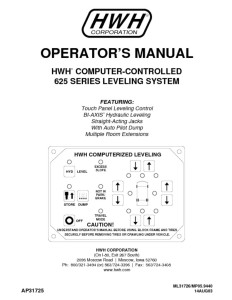 thumbnail of HWH 625 series leveling system ml31726