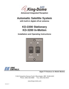 thumbnail of KingDome 2200 3200 manual