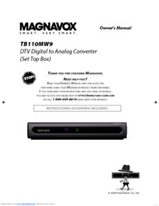 thumbnail of Magnavox DTV digital to anlog converter TB110MW9