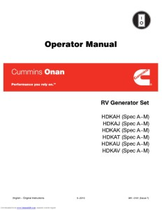 thumbnail of Onan 7.5 quiet diesel genset hdkah