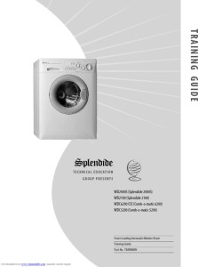 thumbnail of Splendide Washer Dryer wd2000s