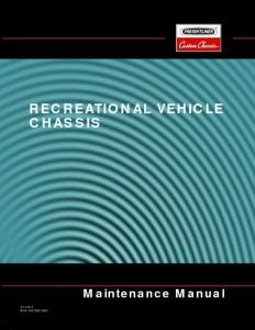 thumbnail of recreational vehicle chassis maintenance manual