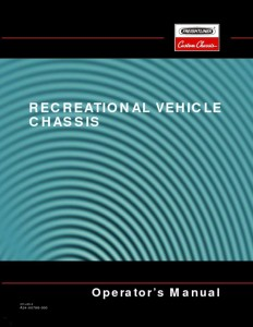 thumbnail of recreational vehicle chassis operator's manual